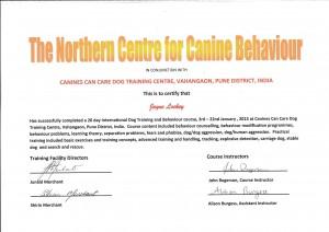 John Rogerson Certificate